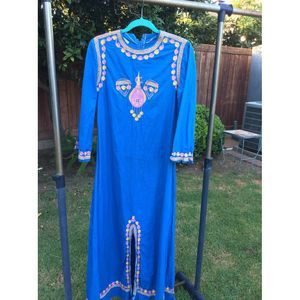 Hippie Gypsy Embroidered India BellSleeve Caftan